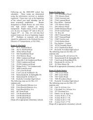 Following are the 2008/2009 school bus schedules