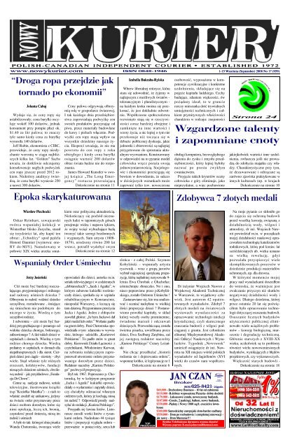 September 2008r No 17 959 Nowy Kurier