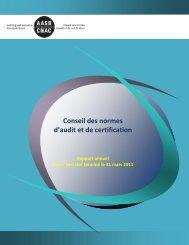 Rapport annuel - 2010-2011 - Normes d'information financière et de ...