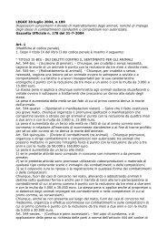 LEGGE 20 luglio 2004, n.189 Disposizioni concernenti il divieto di ...