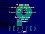 Penspen Consult Techno-Economic Feasibility 4/05 - Afghan