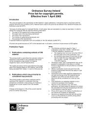 Ordnance Survey Ireland Price list for copyright permits. Effective ...