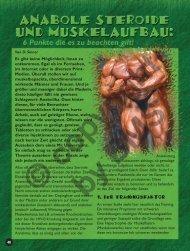Anabole Steroide und Muskelaufbau: 6 Punkte die es zu beachten ...