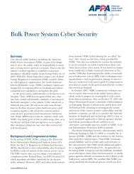 23 Bulk Power System Cyber Security