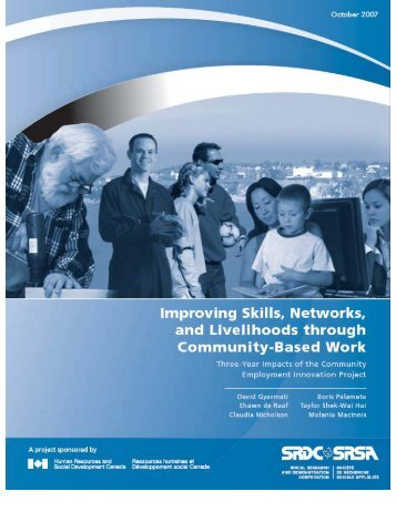 Impacts on Income, Hardship, and Well-Being - Social Research ...