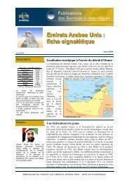Emirats Arabes Unis : fiche signalétique - ILE-DE-FRANCE ...