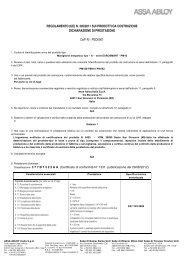 DoP PED0001 Eurosmart EN 1125_ita.pdf - ASSA ABLOY