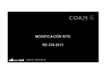Modificaciones RITE - coam