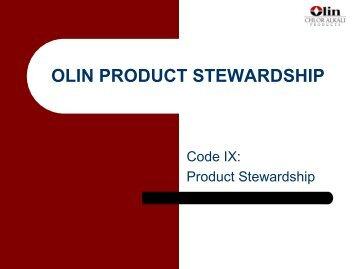 OLIN PRODUCT STEWARDSHIP - NACD