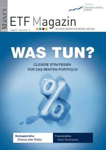 """ETF-Magazin: """"Was tun?"""" (Q1 2012) - Börse Frankfurt"""