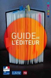 Guide de l'éditeur - Centre National du Livre