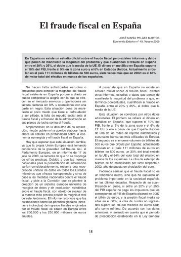 El fraude fiscal en España - Acción Cultural Cristiana