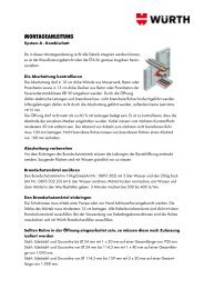 Montageanleitung System A - Würth