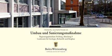 Umbau und Sanierungsmaßnahme, Freiburg, Sautierstr. 26 ...