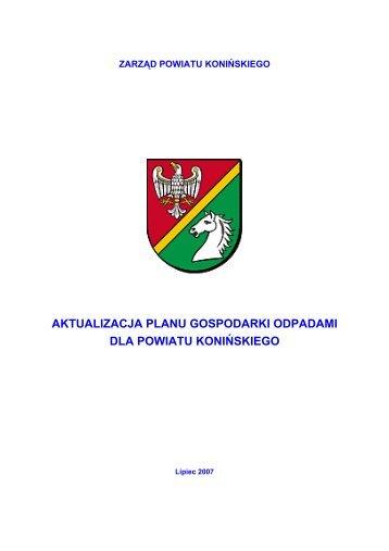aktualizacja planu gospodarki odpadami dla ... - Powiat koniński