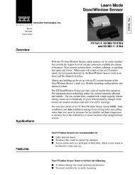 Learn Mode DoorlWindow Sensor - DWG