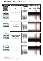 Systém podlahového topení Rubidea - DANEX-PLAST s.r.o.