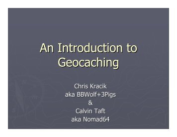 An Introduction to Geocaching - Rhode Island Land and Water ...