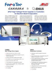 AP&T High Voltage Power Supplies & Controllers for Electron Beam ...
