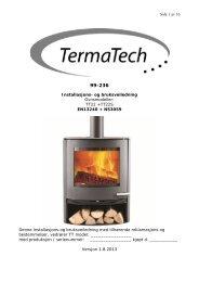 Side 1 av 16 Installasjons- og bruksveiledning ... - TermaTech