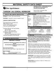 496500 Tordon 242 Cereal Herbicide MSDS Sept 06 - Agsure
