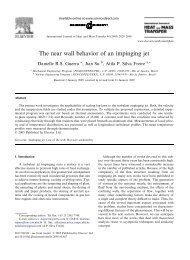 The near wall behavior of an impinging jet - UFRJ