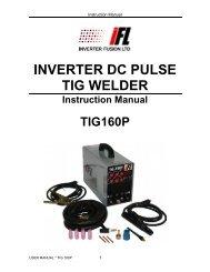 TIG-160P - Inverter Fusion Ltd