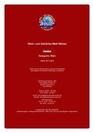 Katalog für Kategorie: Wein - The Whisky Trader