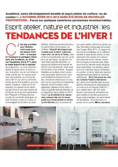 L'Eclaireur des coiffeurs January 2012 - Studio Marisol