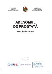 """Protocol clinic naţional: """"Adenomul de prostată"""" - Ministerul Sănătăţii"""