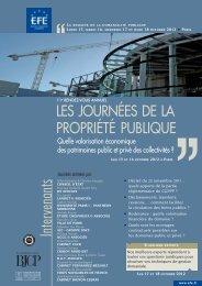 LES JOURNÉES DE LA PROPRIÉTÉ PUBLIQUE - Efe