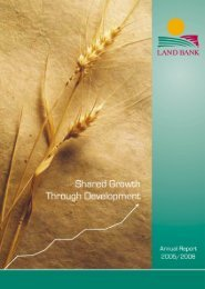 Land Bank Annual Report 2005/2006 - Parliamentary Monitoring ...