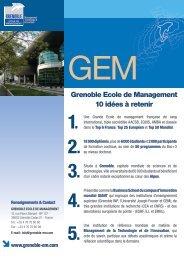 Grenoble Ecole de Management 10 idées à retenir - L'Etudiant