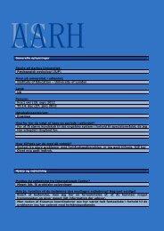 Generelle oplysninger Studie på Aarhus Universitet: Pædagogisk ...