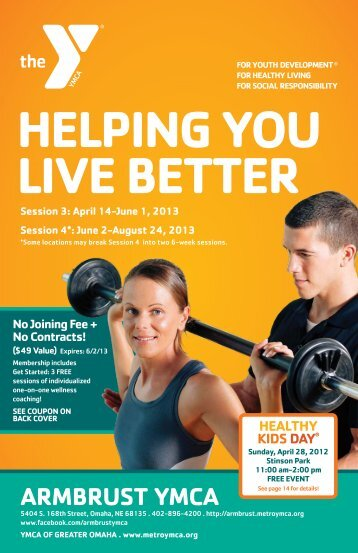 HELPING YOU LIVE BETTER - Armbrust YMCA