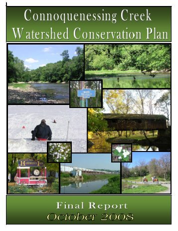 Connoquenessing Creek Watershed Conservation Plan - Western ...