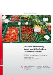 Qualitative Differenzierung landwirtschaftlicher Produkte - Agroscope