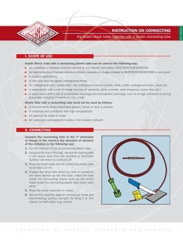 INSTRUCTION ON CONNECTING - Austin Detonator sro