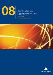 Aberdeen Growth Opportunities VCT PLC - Aberdeen Asset ...
