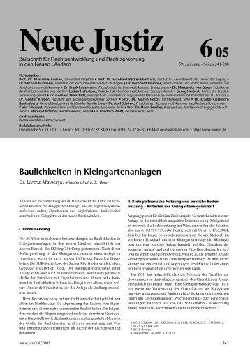 Baulichkeiten in Kleingartenanlagen - gartenfreunde-orlatal