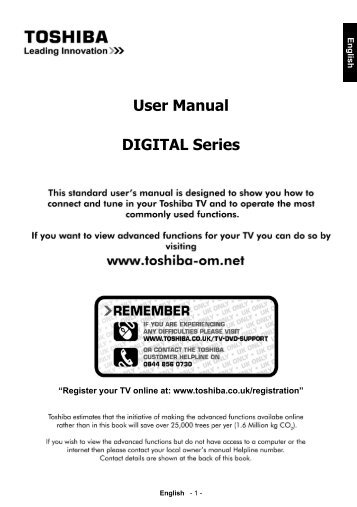 User Manual DIGITAL Series - Toshiba-OM.net