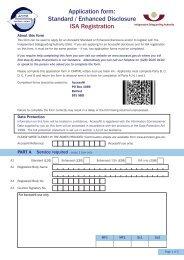 Application form: Standard / Enhanced Disclosure ... - Swim Ireland