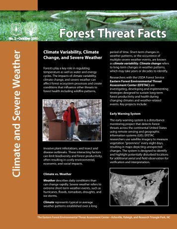 Forest Threat Facts - Southern Research Station - US Department of ...