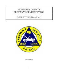 monterey county freeway service patrol operator's - Transportation ...