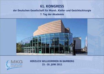61. KONGRESS - Deutsche Gesellschaft für Mund-, Kiefer