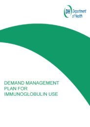 IVIg Demand Management Plan - National Immunoglobulin Database