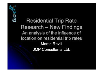 Residential Trip Rate Residential Trip Rate Research - TRICS