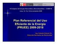 Plan Referencial del Uso Eficiente de la Energía (PRUEE ... - Fonam