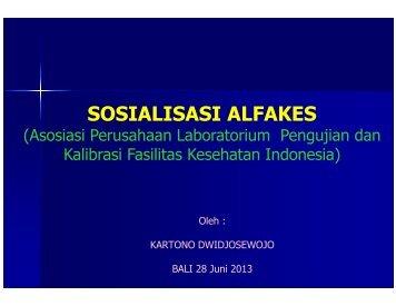 8. Sosialisasi ALFAKES - Direktorat Jenderal Bina Kefarmasian dan ...