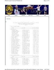 Results - Windsor Legion Track & Field Club